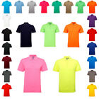 New Mens Asquith & Fox Short Sleeve Classic Fit Perfomance Blend Polo Size S-5XL