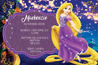 Personalised Tangled Princess Rapunzel Birthday Party Invites + envelopes T3