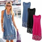 Summer Womens Sleeveless Casual Evening Party Cocktail Short Mini Dress Bathing