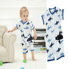 Newborn Baby Girl Boys Short-Sleeve Shark Romper Jumpsuit Kids Clothes HongKong