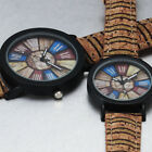 Vintage & Fashion Couples Gift- New Men Women Bark Style Design Pu Leather Watch