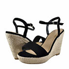 Womens Shoes Delicious Freesia Open Toe Rope Wrapped Wedge Black *New*