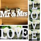 heart decorations - ''Mr & Mrs'' ''LOVE''White Wooden Letters Wedding Home Party Table Sign Decor