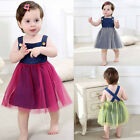 Toddler Baby Kids Girl Party Pageant Princess Tutu Dress Tulle Holiday Sundress