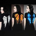 Women Unique Digital 3D Print Lovely Butterfly Slim Casual T-shirt Fashion C8