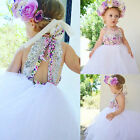 Baby Kids Clothes Girls Tulle Lace Floral Dress Party Dresses Sundress UK Stock