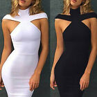 Summer Women's Bandage Bodycon Sleeveless Evening Sexy Party Cocktail Dress JR