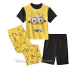 DESPICABLE ME Size 2T 3T 4T Boys PAJAMAS PJS Shirt Pants Shorts 3 Piece