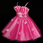 Hot Pink Christening Christmas Party Flower Girls Dresses SIZE 2-3-4-5-6-7-8-10Y
