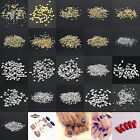 1000PC 3D Design Stickers Metallic Studs Rivet Nail Art Decor Size 1.5mm to 5mm