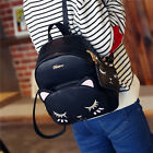 New Mini Backpack Women Bag Artificial Leather Cute Kitten Institute Package