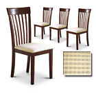 CT11 MAN CAVE KITCHEN DINING CHAIRS WOOD FINISH CUSHION SEAT ESPRESSO CAPPUCCINO