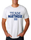 Martinique Soccer Team T-shirt Adults Men's shirt Jersey 100 % cotton any sports image