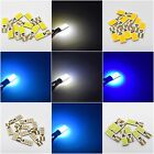 T10 COB 12 SMD HID BULBS LED ERROR FREE CANBUS WHITE W5W 501 SIDE LIGHT CAR