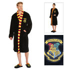 Adult Official Harry Potter Hogwarts Crest Bathrobe Mens OR Womens Dressing Gown