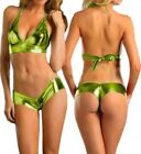 Very HOT & SEXY METALLIC SPANDEX BIKINI TEDDIES SWIMSUIT Swimwear