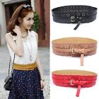 Hot Sale Women Lady Girl Fashion Hollow Flowers Wide Waist Belt Buckle Waistband