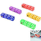 4 X dice dust cover valve caps for cars bike bicycle motorbike quad