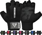 RDX Gym Training Weight Lifting Gloves BodyBuilding WorkOut Fitness Exercise F3