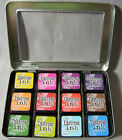 Ranger Tim Holtz Mini Distress Ink Pad Set 4-Pack Kit Buy 3 Get Free Storage Tin