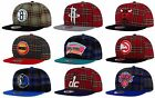 Mitchell & Ness Authentic NBA Plaid Flannel Mens Snapback Adult Fit Hat Cap on eBay