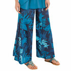 Women's Floral Cotton Palazzo Pants, by Collections Etc