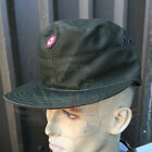 AUSTRIAN ARMY SURPLUS ISSUE OLIVE GREEN FATIGUE PEAKED COTTON CAP,BASEBALL,MOTIF