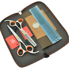 5.5 6.0inch Barber Shears Hairdressing Scissors Set Hair Cutting Thinning Shears