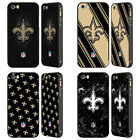 NFL 2017/18 NEW ORLEANS SAINTS BLACK BUMPER SLIDER CASE FOR APPLE iPHONE PHONES