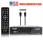 1080P Digital Convertor TV Box Analog Clear Cable ATSC HDTV Receiver UHF Antenna