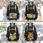 New Unisex Anime Digimon Backpack Knapsack Black Packsack School Otaku Bags