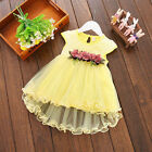 Toddler Baby Girls Summer Floral Tutu Dress Princess Party Wedding Tulle Dresses