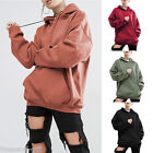 Women Plain Pullover Fleece Hoodie Plane Women Gym Sports Wear Sweatshirt Lot HX