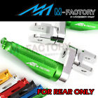 Shinobi Billet Adjustable Rear Footpegs 25mm Fit Kawasaki ZZR 1100 ZX-6R ZX-750R