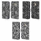 HEAD CASE DESIGNS BLACK LACE LEATHER BOOK WALLET CASE COVER FOR SAMSUNG PHONES 1