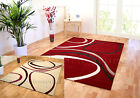 LARGE MODERN SWIRL RUG,CREAM WITH FUCHSIA; OR RED WITH CREAM TRENDY FLOOR