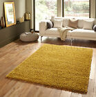SMALL - EXTRA LARGE HARVEST YELLOW THICK COSY SOFT PILE SHAGGY SHAG QUALITY RUGS