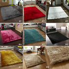 SMALL - LARGE SUPER SOFT THICK SILKY HIGH DENSITY PILE PLAIN MODERN SABLE RUG