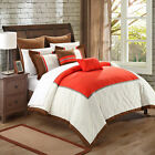 Greensville Red, White & Brown 11 Piece Comforter Bed In A Bag Set