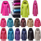 Women's Plus Size Ultralight 90% Down Slim Thin Hooded Jacket Puffer Parka Coat