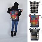Girl Women Unisex Check Plaid Fashion School Backpack Bookbag Travel Bag Top Zip
