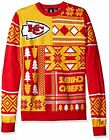Klew NFL Men's Kansas City Chiefs Patches Ugly Sweater, Red