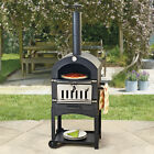Outdoor Pizza Oven Charcoal BBQ & Smoker Garden Steel Chimney Grill Cooker NEW for sale  Brecon