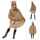 Smiffys Adult Party Poncho Giraffe Coat Water Resistant Festival Kagool With Bag