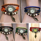 Women Watches Vintage Bracelet Wristwatches leaf Pendant Watch Girl-Multicolor $1.99 USD on eBay