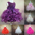 HOT Baby Toddler GIRL Dress Birthday Flower Princess Wedding