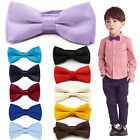 New Gentlemen Bow Tie For Kids Solid Colour Pretied Bowtie Children Toddler Boy