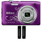 Nikon Coolpix A10 16.1MP 5x Zoom Compact Digital Camera Black Red Silver