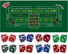 Premium Felt Craps Layout Featuring Authentic Las Vegas Casino Table-Played Dice
