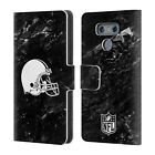 OFFICIAL NFL 2017/18 CLEVELAND BROWNS LEATHER BOOK WALLET CASE FOR LG PHONES 1